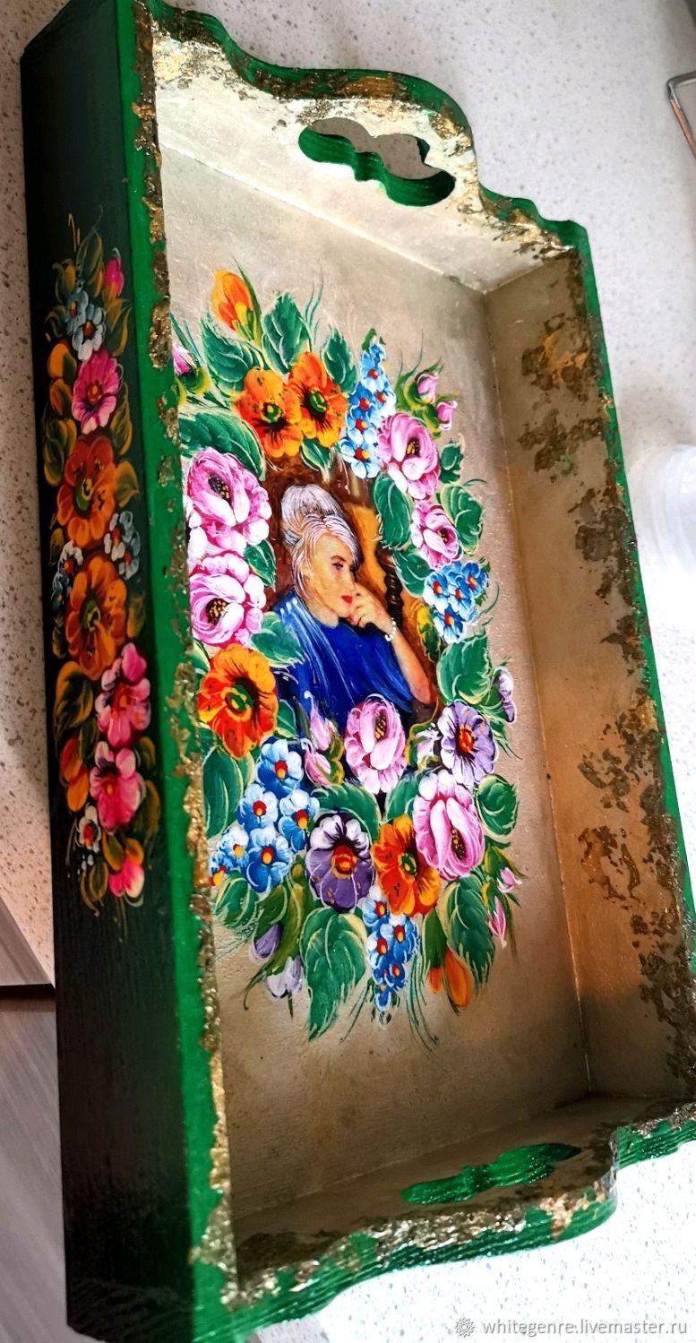 Поднос с персональным фото, Именные сувениры, Москва,  Фото №1