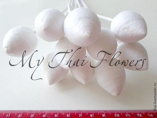 Основы для роз хлопок. Материалы для флористики из Таиланда.