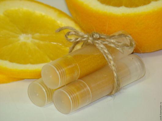 """Бальзам для губ ручной работы. Ярмарка Мастеров - ручная работа. Купить Бальзам для губ """"Апельсиновое лето"""". Handmade. Рыжий"""