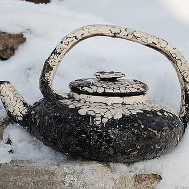 """Посуда ручной работы. Ярмарка Мастеров - ручная работа Чайник керамический """"Вечность"""". Handmade."""