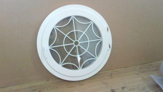 Элементы интерьера ручной работы. Ярмарка Мастеров - ручная работа. Купить Окна деревянные , круглые. Handmade. Белый, окна на заказ