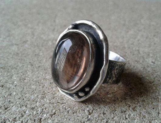 Кольца ручной работы. Ярмарка Мастеров - ручная работа. Купить кольцо с раухтопазом. Handmade. Коричневый, кольцо с раухтопазом, серебро, чернение