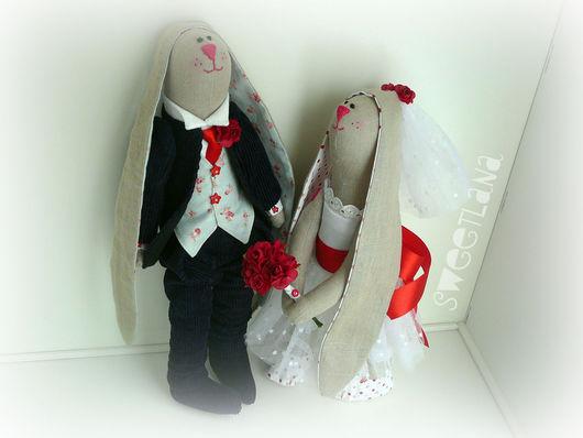 Куклы Тильды ручной работы. Ярмарка Мастеров - ручная работа. Купить Зайцы тильда #свадьба. Handmade. Свадьба, любовь, белый