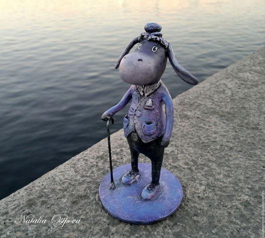 Коллекционные куклы ручной работы. Ярмарка Мастеров - ручная работа. Купить Ослик Джентльмен (папье-маше). Handmade. Комбинированный