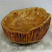 Посуда ручной работы. Ярмарка Мастеров - ручная работа Чаша (миска) из карельской березы. Handmade.