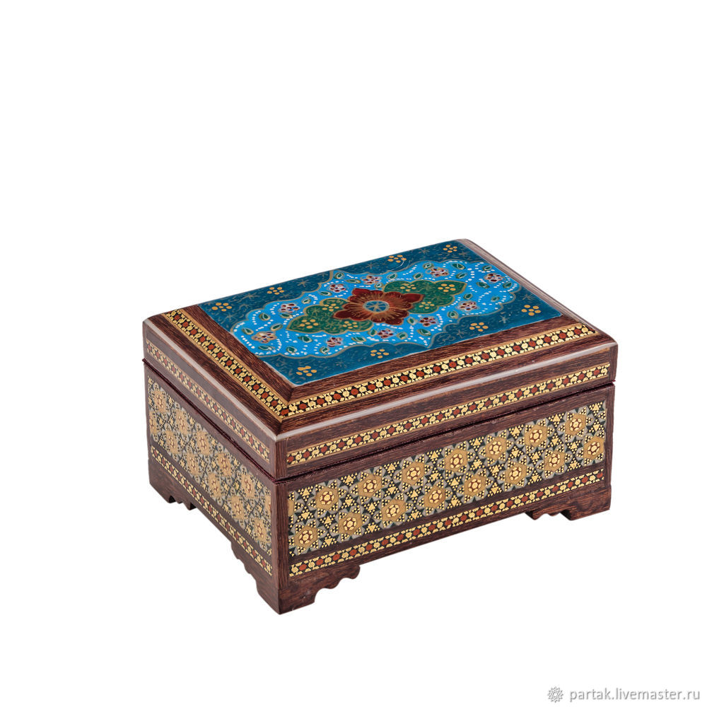 Small jewelry box Hatamkari shop online on Livemaster with