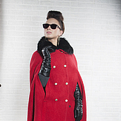 Одежда handmade. Livemaster - original item Cape red.. Handmade.