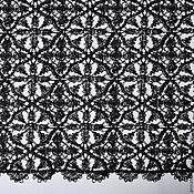 Ткани ручной работы. Ярмарка Мастеров - ручная работа Кружевной гипюр - черный цвет. Handmade.