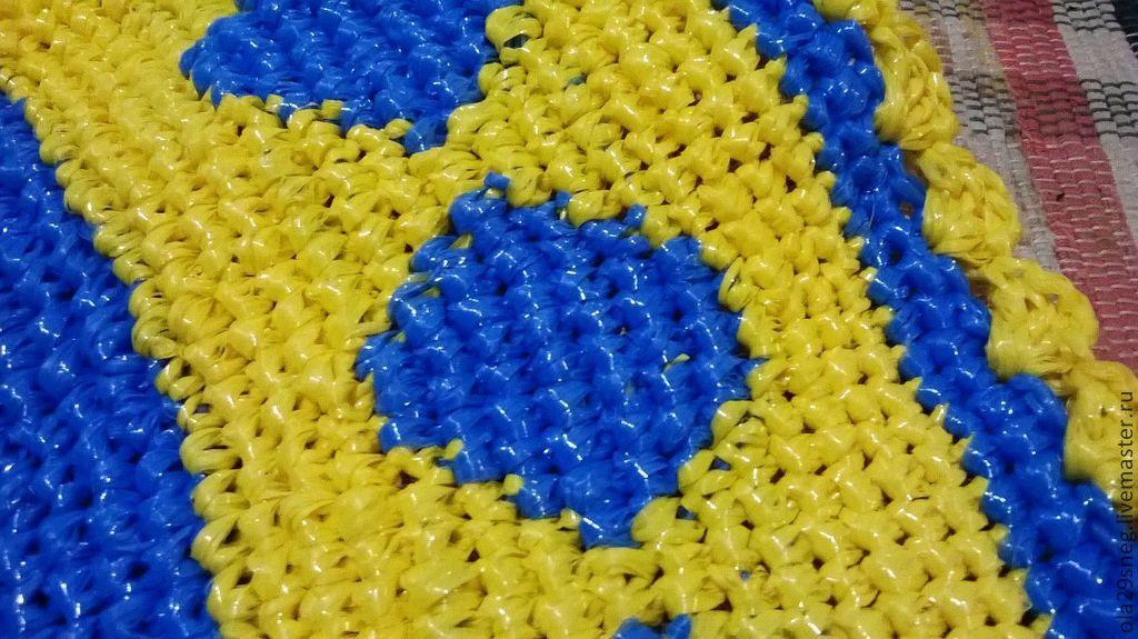 Вяжем коврик крючком из пропиленовой нити