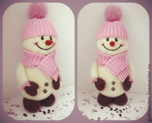 Сказочные персонажи ручной работы. Ярмарка Мастеров - ручная работа. Купить очень милый снеговик. Handmade. Белый, снеговичок