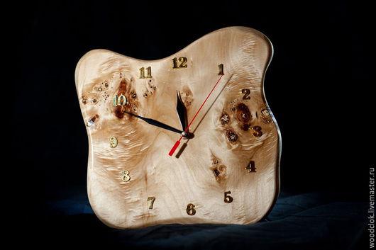 Часы для дома ручной работы. Ярмарка Мастеров - ручная работа. Купить Деревянные часы. Handmade. Желтый, дерево