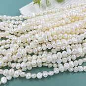 Материалы для творчества handmade. Livemaster - original item Thread 19 cm Natural pearls. free forms 6-7h3.5-5h5-5.5. 4866 mm (). Handmade.
