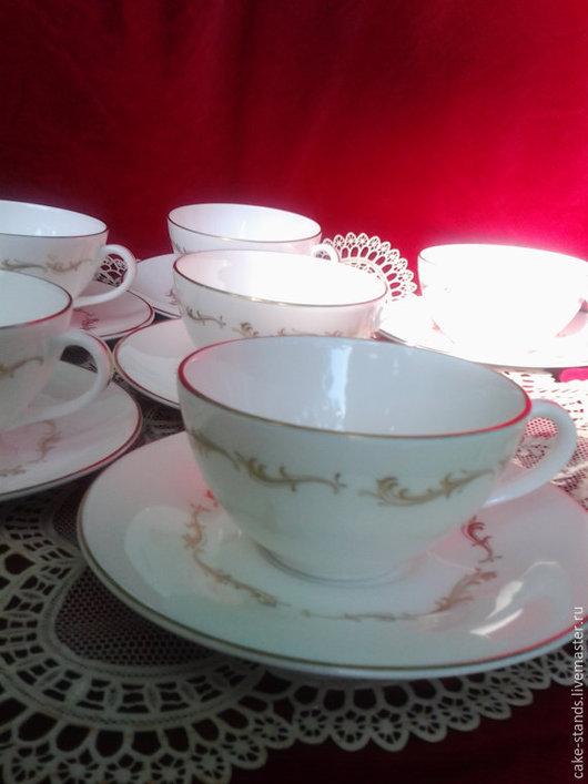 Винтажная посуда. Ярмарка Мастеров - ручная работа. Купить Royal Doulton,  French Provincial,Чашки с блюдцами комплект. Handmade. Белый