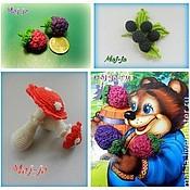 """Куклы и игрушки ручной работы. Ярмарка Мастеров - ручная работа Игровой набор """"Грибы-ягоды"""". Handmade."""