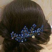 Свадебный салон handmade. Livemaster - original item bridal comb. the blue lenses.. Handmade.