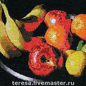"""Картины и панно ручной работы. Ярмарка Мастеров - ручная работа Вышивка крестиком """"Натюрморт с фруктами"""". Handmade."""