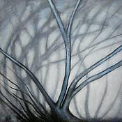 Картины и панно ручной работы. Ярмарка Мастеров - ручная работа Картина   Старое  дерево  пейзаж  акрил  лес  деревья. Handmade.