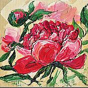 Картины и панно handmade. Livemaster - original item Painting tree Peonies, decorative panels.. Handmade.