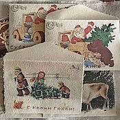 """Канцелярские товары ручной работы. Ярмарка Мастеров - ручная работа """"Письмо от Деда Мороза"""" винтажный конверт. Handmade."""