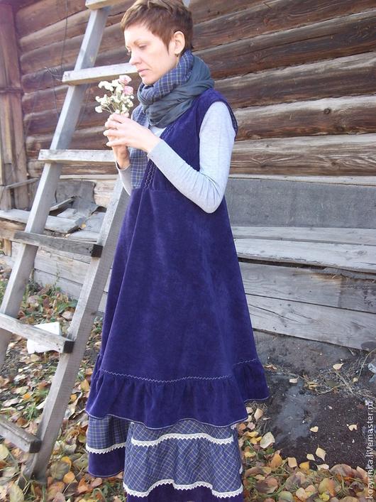 """Юбки ручной работы. Ярмарка Мастеров - ручная работа. Купить Бохо-образ""""Утро туманное""""(юбка,сарафан). Handmade. Тёмно-фиолетовый"""