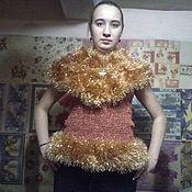 Одежда ручной работы. Ярмарка Мастеров - ручная работа Топ-жилет Королевский. Handmade.