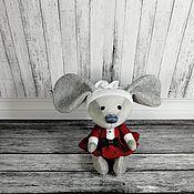 Мягкие игрушки ручной работы. Ярмарка Мастеров - ручная работа Мышка интерьерная. Handmade.