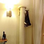Для домашних животных, ручной работы. Ярмарка Мастеров - ручная работа Навесная высокая когтеточка под потолок. Заказать по размеру.. Handmade.