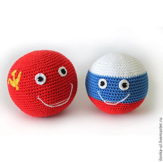 """Развивающие игрушки ручной работы. Ярмарка Мастеров - ручная работа. Купить Вязаные мячики """"Страны Шарики"""" (CountryBalls). Handmade."""