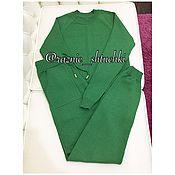 Одежда ручной работы. Ярмарка Мастеров - ручная работа Трикотажный костюм (вязаный шерстяной костюм). Handmade.