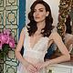 Белье ручной работы. Полупрозрачная ночная сорочка с кружевом. F-11. Apilat wedding dresses and lingerie. Интернет-магазин Ярмарка Мастеров.