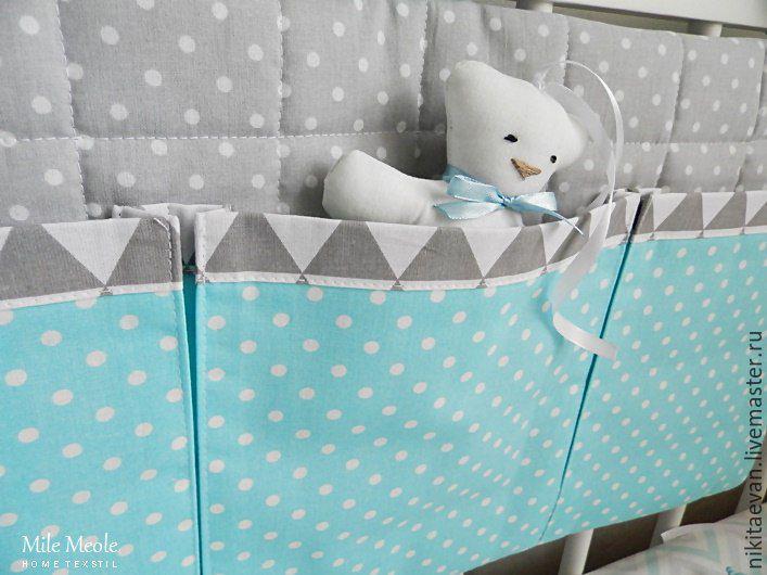Карманы на кроватку для новорожденных своими руками выкройки 70