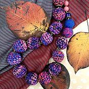 Бусы ручной работы. Ярмарка Мастеров - ручная работа Бусы: Бусы вязаные Спелые ягоды. Handmade.