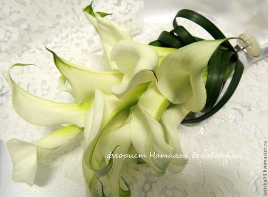 Свадебные цветы ручной работы. Ярмарка Мастеров - ручная работа. Купить Букет невесты из калл. Handmade. Белый, цветы, цветы