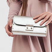 Сумки и аксессуары handmade. Livemaster - original item Clutch bag made from leather and wood metallic. Handmade.