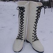 Обувь ручной работы. Ярмарка Мастеров - ручная работа Ботинки женские валяные. Handmade.