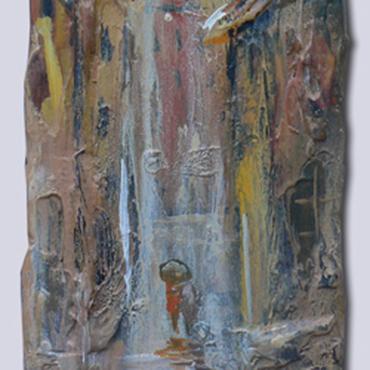 Картины и панно ручной работы. Ярмарка Мастеров - ручная работа Дождь в старом городе (Резерв). Handmade.