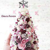 """Подарки к праздникам handmade. Livemaster - original item Christmas Tree """"Maroon""""!. Handmade."""