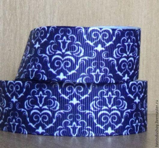 Другие виды рукоделия ручной работы. Ярмарка Мастеров - ручная работа. Купить Репсовая лента  Узорная (50). Handmade.