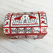 Шкатулки ручной работы. Ярмарка Мастеров - ручная работа Шкатулка: Мезенская. Handmade.