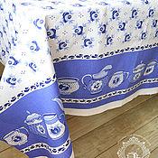 Для дома и интерьера ручной работы. Ярмарка Мастеров - ручная работа Скатерть  Гжель чайнички и чашки. Handmade.