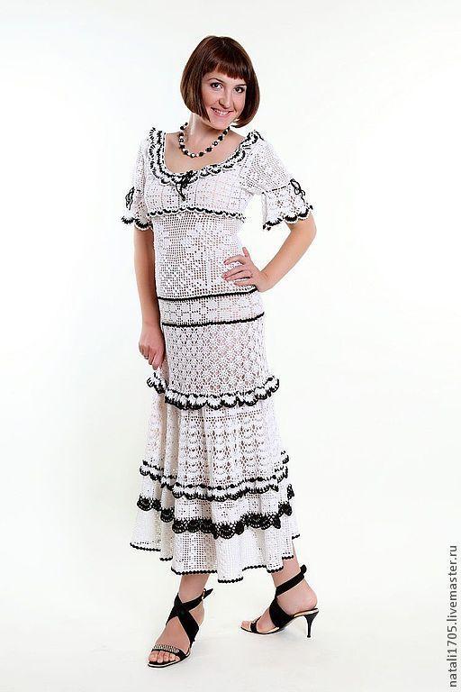 Платье ручной работы, выполнено полностью крючком. Наталия. Ярмарка мастеров.
