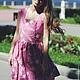 """Платья ручной работы. Платье """"Вивьен"""" pink. Roses (Roses-dresses). Ярмарка Мастеров. Пляж, шитье, платье на море, хлопок"""