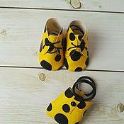 Набор ботинки+сумка Горошек