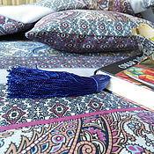 """Для дома и интерьера ручной работы. Ярмарка Мастеров - ручная работа комплект """"Восточный сад"""" лоскутное одеяло + подушка. Handmade."""