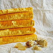 Материалы для творчества ручной работы. Ярмарка Мастеров - ручная работа Плюш желтый  яркий. Handmade.