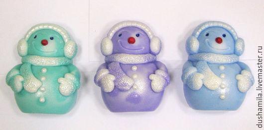 Мыло ручной работы. Ярмарка Мастеров - ручная работа. Купить Мыло Снеговик малый. Handmade. Голубой, мыло для мужчин