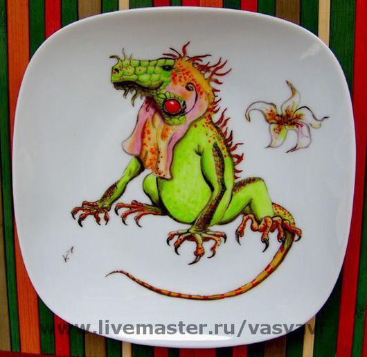 Декоративная посуда ручной работы. Ярмарка Мастеров - ручная работа. Купить Игуана или дракон. Handmade. Дракон, игуана, ящер
