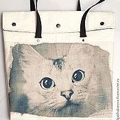 Сумки и аксессуары ручной работы. Ярмарка Мастеров - ручная работа сумка с кошкой. Handmade.