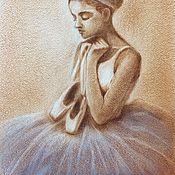 Картины ручной работы. Ярмарка Мастеров - ручная работа Картина Юная балерина. Handmade.