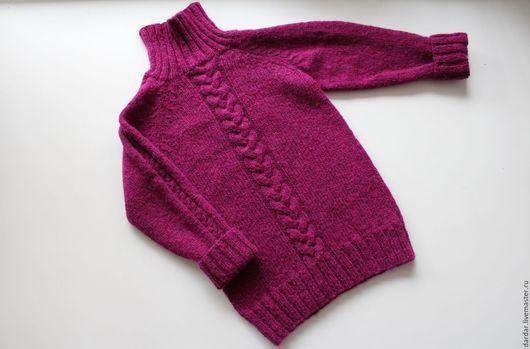 """Одежда для девочек, ручной работы. Ярмарка Мастеров - ручная работа. Купить Детский свитер """"Мечтатели"""". Handmade. Малиновый, свитер вязаный"""